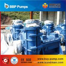 Pompe centrifuge de boue d'aspiration doublée par caoutchouc