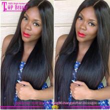 Fashion 100% silk top lace front wig virgin brazilian hair silk top wig