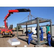 Fácil instalación y transporte Alojamiento de trabajador de contenedor plano