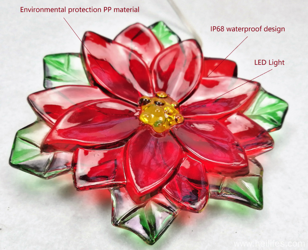 Customized Festival Plastic LED Flowers gifts