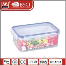 Rectangle transparent airtight plastic food container