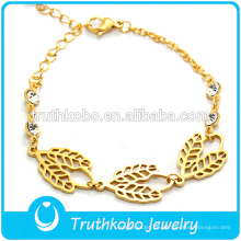 2016 Good Sale Gold-plated Four-Leaved Trébol de la forma de hoja A New Girls Design Designer