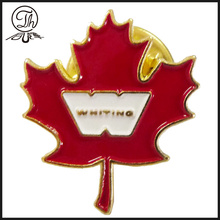 Personalized Maple Leaf metal pin badges