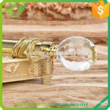 hot sale beaded curtain rod with crystal rod end