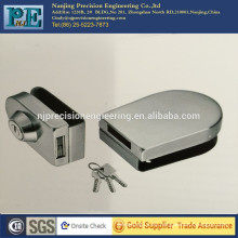 Cerradura de latón núcleo de acero inoxidable de fabricación doble latón de bloqueo de la base de acero inoxidable sola cabeza de bloqueo para puerta de cristal doble