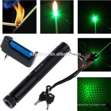 532nm-10-Mile-5mw-303-Green Laser Pointer Lazer Pen Beam Luz-18650-Carregador 532nm-10-Mile-5mw-303