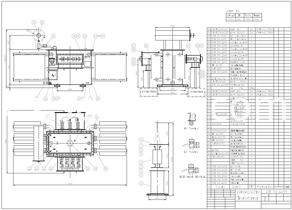 1600kva transformer drawing