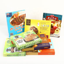 Wholesale Custom Foldable Carton Frozen Steak Packaging Box with Your Own Logo Printing