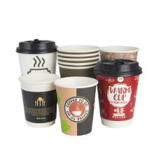 Colorful eco friendly paper cups with custom design