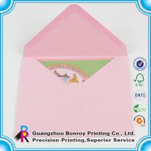 Sobre de papel de encargo de la impresión en offset al por mayor de alta calidad