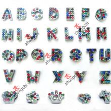 Красочные Алфавит Rhinestone / Письмо Подвески для ювелирных изделий DIY (SC-26)