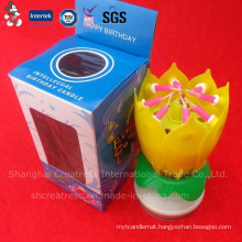 Single-Layer Rotating Music Blooming Birthday Candle