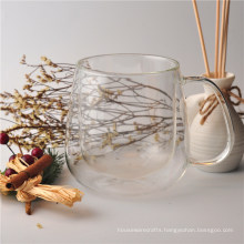 Large Double Wall Glass Coffee Cup