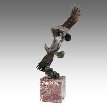 Animal Garden Sculpture Eagles Decoration Bronze Statue Tpal-201