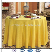 100% Polyester Factory Made Luxurious Jacquard Fancy Wedding Table Cloths