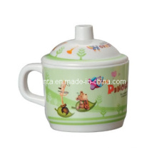 100% Melamine Dinnerware- Kid′s Tableware Mug with Lid/Houseware Supplier (pH612S)