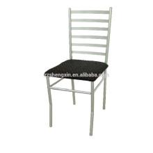 Chaise de salle à manger d'hôtel, Chaise à tube en acier Dossier en métal à vendre