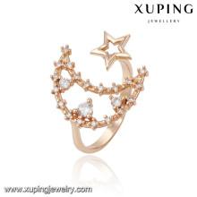 13800 xuping moda nuevo diseño 18k oro hermoso anillo de dedo