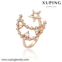 13800 xuping fashion new designed 18k gold beautiful finger ring