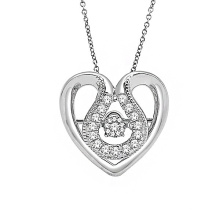 Hot Sales Heart 925 Sterling Silver Micro Setting Jóias Pingentes