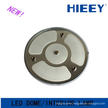 2015 NEW led round dome light led interior light with on and off switch for caravans round led ceiling light for vans