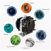 Medical Hospital PSA oxygen Cylinder System 2.2KW 240 L/min Oil Free Scroll Air Compressor