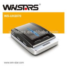 Concentrateur usb 2.0 de 480Mbps, moyeux USB usb 7 ports avec adaptateur secteur, câble USB 2.0