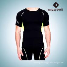 Las camisas y pantalones cortos de la compresión del equipo del desgaste del entrenamiento del último hombre del diseño