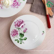 Antiguo diseño chino cerámica barata a granel placas de cena placas de porcelana