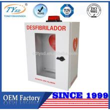 TUV CE para AED gabinetes de almacenamiento de desfibrilador baratos con alarma