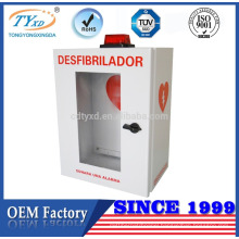 TUV CE for AED cheap defibrillator storage cabinets with alarm