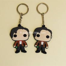 Cartoon promotion forme PVC Keyring
