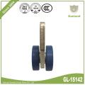 Roda plástica do rolo do gancho da rede do rolamento lateral da cortina
