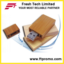 Eco-Friendly madeira/bambu USB Flash Drive com logotipo (D801)