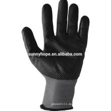 Sunnyhope Nitril Schaum beschichtete Handschuhe Malaysia, Dimpled Korn Handschuhe