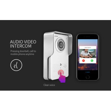 Compatível com aplicativo em Android / iOS WiFi Video Intercom campainha residencial inteligente