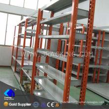 Estante ajustable de la vendimia industrial del almacenamiento de los almacenes del equipo del metal