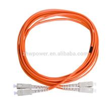 Super março compra SC cabo de remendo, multimodo 50 125 fibra óptica cabo, SC APC multimodo ponte de fibra óptica para a rede FTTH