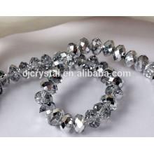 Perlas de cristal en bluk, perlas de cristal de rondelle al por mayor de China