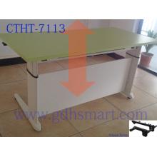 овальные столы ручная мотылевая регулируемая высота офисный стол исследование стол искусственный мрамор обеденный стол