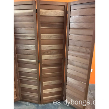 FOUR PANEL CEDAR ROOM DIVIDER Free Standing Folding Natural Wood Panels