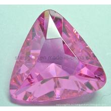 Сияющий Аметист Триллиона Форма Синтетический драгоценный камень