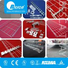 Bandeja de cable de la cesta de la malla de alambre del SUS SS316 del acero inoxidable (fábrica enumerada ISO9001)