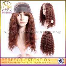 Pre Style Ombre Yellow Human Hair Full Lace Wigs For Black Women