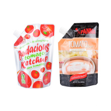 Customized Plastic Packing Bag Fruit Juice Drink Screw Cap Drink Doypack Stand up Bag with Spout