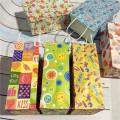 Papiergeschenkbeutel mit Griffen Festival Geschenk Kraftbeutel recycelbar Hochzeit Geburtstagsfeier Geschenk Paket Taschen
