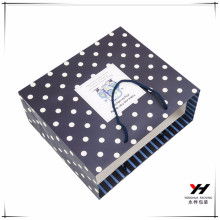 2016 wholesale logo printed recyclable color print gift bag With Handles