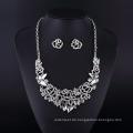 Mode Kristall Schmetterling Silber Plating Lady Halskette Set