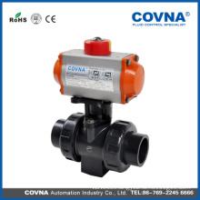 DN25 True Union Pneumatic Actuator PVC Ball Valve
