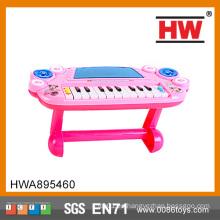 Divertido plástico niños juguete de órgano musical de color rosa